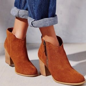 Urban Outfitters Ecote Joey Suede Ankle Bootie